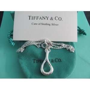 Tiffany & Co. Elsa Peretti Silver Tear Drop Necklace
