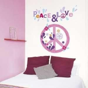 (20x28) Emilie Capman Peace & Love Flower Wall Stickers