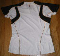 Asics T Shirt Womens Small Top Impact Line Running Athletic White