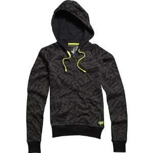 Fox Racing Shockwave Fox Girls Hoody Zip Sports Wear Sweatshirt w
