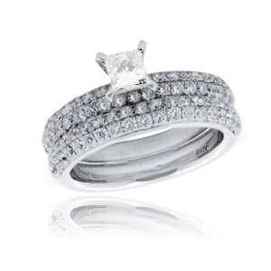 Effy Jewelers Effy® 14K White Gold Diamond Engagement Ring and Band 1
