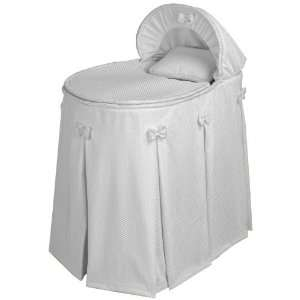Baby Doll Bedding Bassinet Set, 0 25 Pounds, White: Baby
