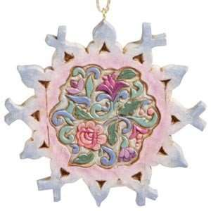 Enesco Jim Shore 4002424 Snowflake/Rosemaling Ornament