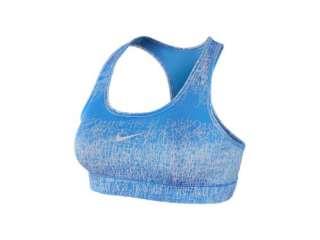 Nike Pro Womens Victory Compression Sports Bra Blue/White
