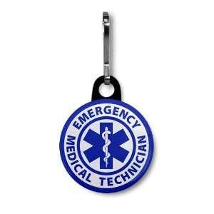 TECHNICIAN Fire Rescue 1 inch Black Zipper Pull Charm