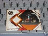 PRESS PASS TONY STEWART RACE USED NASCAR GLOVE CARD2000