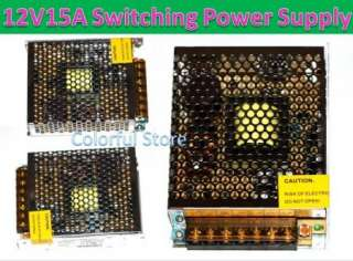 12V 15A DC Universal Regulated Switching Power Supply |