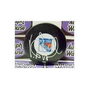 Vinny Prospal autographed New York Rangers Hockey Puck