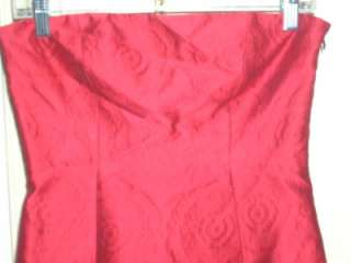 NWT$335 Theory Red Orsolya Brocade Strapless Dress 4 S