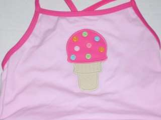 Gymboree Girl Popsicle Party Pink Swimsuit Ice Cream 12 18 NWT