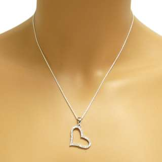 925 Sterling Silver Multi  CZ Heart Necklace 2 Styles