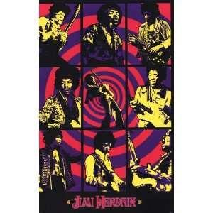 Jimi Hendrix   Purple Haze Montage by Unknown 24x36