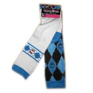 Monster High Blue Skull Knee High Socks 2 Pack Girls Shoe