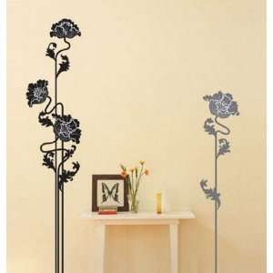 Home Art Decor Wall Sticker Popular Flower Design 70x50cm Electronics