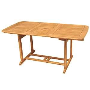 Edison Extendable Wood Patio Dining Table, Brown Patio, Lawn & Garden