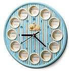 RUSS MY FIRST YEAR PHOTO FRAME WALL CLOCK BLUE GIFT NEW