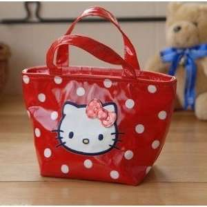 Limited Style Red Polka Dot Hello Kitty Tote Lunch Bag