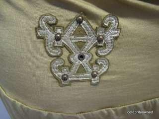 Sherry Nikka Green Halter Full Length Evening Dress M