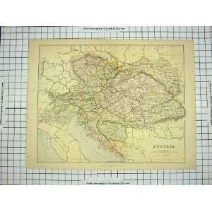ANTIQUE MAP AUSTRIA GULF VENICE BOSNIA HUNGARY TYROL Home
