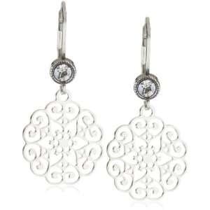 Liz Palacios Plumas Silver Star Filigree Earrings