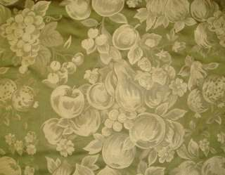 yds 100% SILK Pear Green Fruit Design Damask Fabric