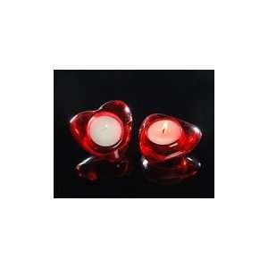 Red Heart Glass Tealight Votives