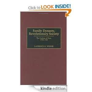 Family Dynasty, Revolutionary Society The Cochins of Paris, 1750 1922