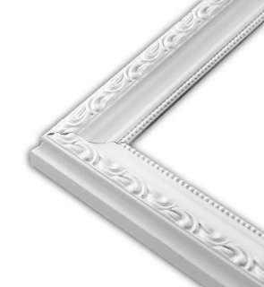 Scrolled White Picture Frame Solid Wood