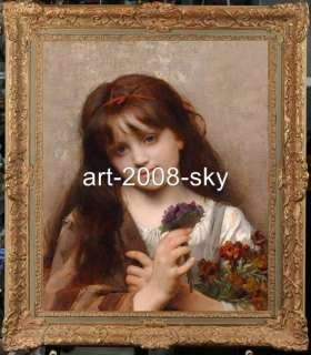 Old Master Art Antique Oil Painting female Portrait small girl 20X24