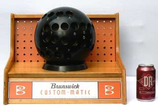 WILD 1950s Brunswick Custom Matic bowling ball fitter.