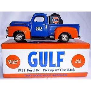 Gulf 1951 Ford F 1 Pickup W/tire Rack: Toys & Games