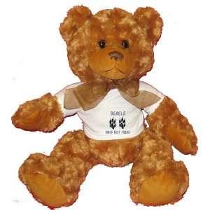 BEAGLE MANS BEST FRIEND Plush Teddy Bear with WHITE T