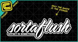 Sortaflush jdm ill fatlace drift import decals stickers