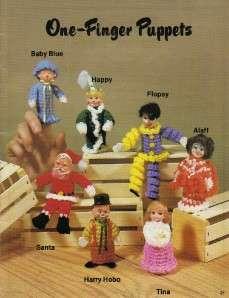 Crochet Puppets Pattern Book by Sue Penrod~