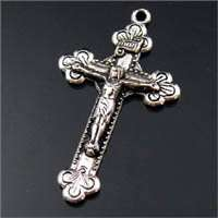 6Pcs Tibetan silver cross pendants 28x48mm #181A