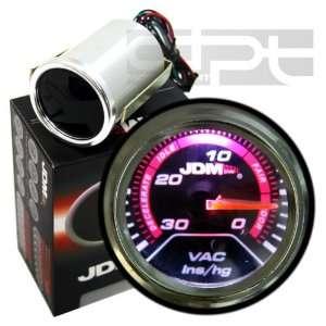 Jdm 2 52mm Universal Turbo Vaccum Vac Gauge Meter Rsx