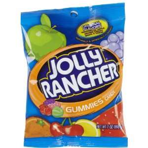 Jolly Rancher Gummies Peg Bag, 7 oz:  Grocery & Gourmet