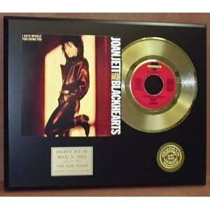 Gold Record Outlet Joan Jett 24kt Gold Record Display LTD