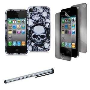 Electromaster(TM) Brand   Black / White Skull Design