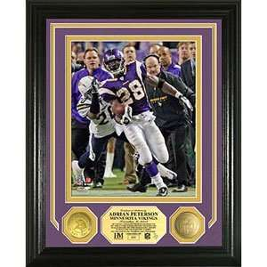 Highland Mint Adrian Peterson Nfl Single Game Rushing Record Photo