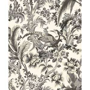 Toile Charcoal Wallpaper by Blue Mountain in Shand Kydd (Double Roll