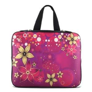 10 10.2 Purple flowers Laptop Netbook Sleeve Bag Case
