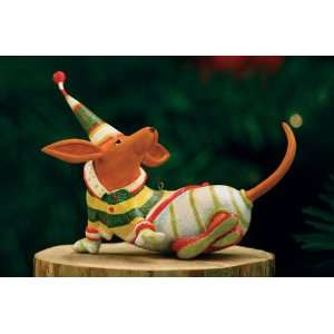 Patience Brewster Krinkles Dachshund Dog Christmas Ornament