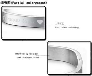JCB19 Silver 316L Stainless Steel Forever Love Wedding Couple Bracelet