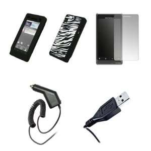 Screen Protector + Car Charger (CLA) + USB Data Cable for Motorola