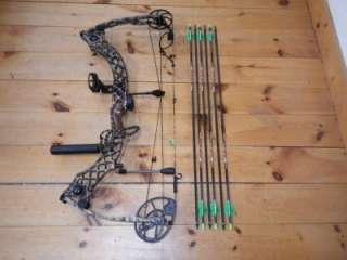 Heli M Compound Bow Pack RH 70# 29.5 wih V3 Vforce ICE Arrows |