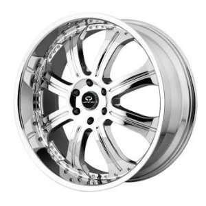 Lorenzo WL014 22x9.5 Chrome Wheel / Rim 5x120 with a 12mm Offset and a