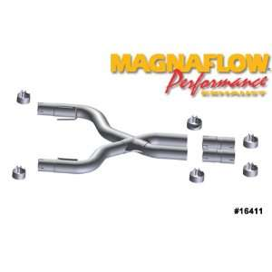 Magnaflow Tru X Stainless Steel Crossover Pipes   05 09 Ford Mustang 4