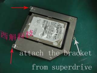 2nd HDD hard drive caddy for Apple unibody MacBook pro