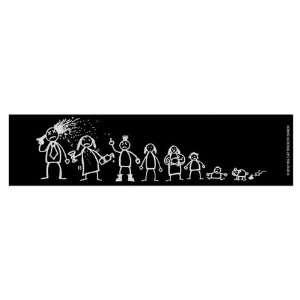 Stick Family (Bumper Sticker)